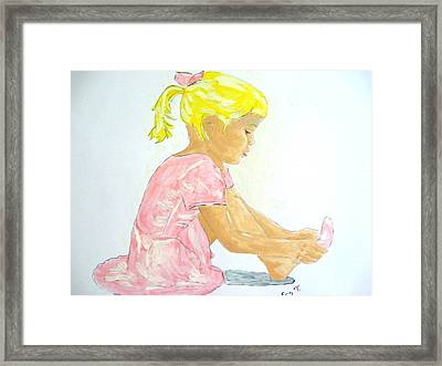 First Dance Class Framed Print by Erin Langham