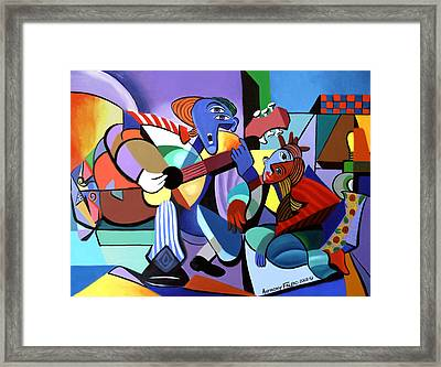First Date Framed Print by Anthony Falbo