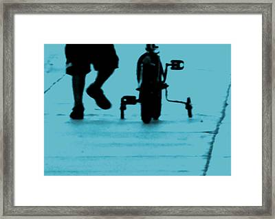 First Date Framed Print by Lin Haring