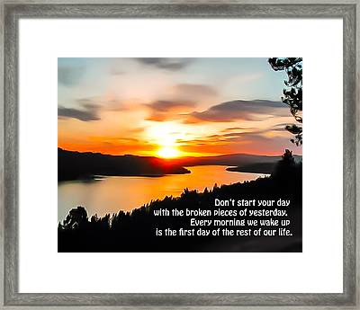 First Day Framed Print by Curtis Stein