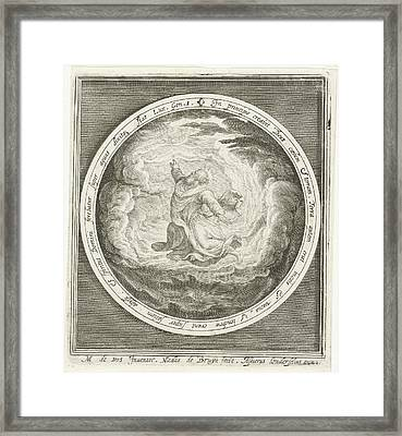 First Day Of Creation God Creates Heaven And Earth Framed Print by Nicolaes De Bruyn And Assuerus Van Londerseel