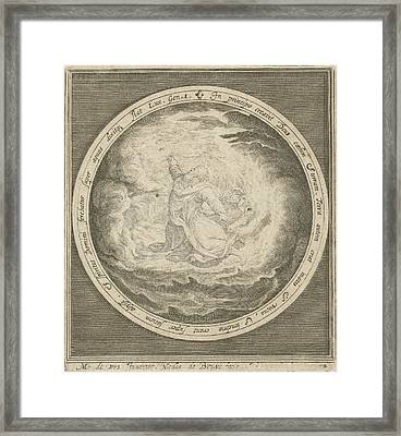 First Day Of Creation God Creates Heaven And Earth Framed Print by Nicolaes De Bruyn