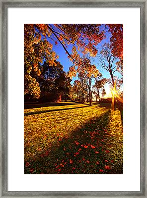 First Day Of Fall Framed Print by Phil Koch