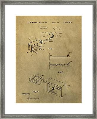 First Digital Camera Patent Framed Print by Dan Sproul