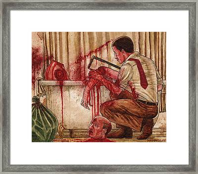First Dismemberment Framed Print by David Shumate