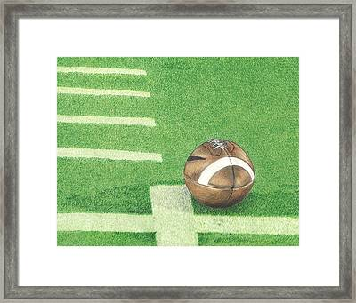 First Down Framed Print by Troy Levesque