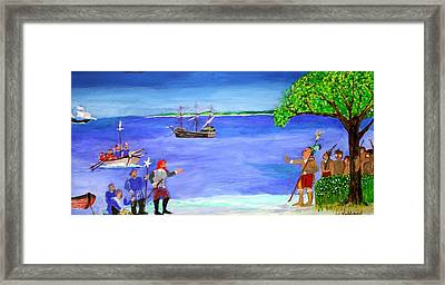 First Encounter Framed Print