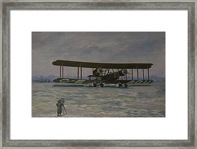 First England-australia Flight 1919 Framed Print