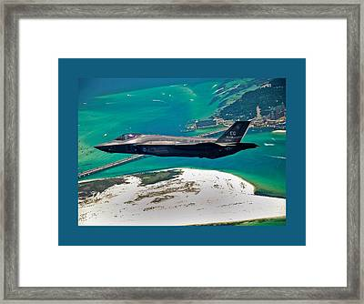 First F 35 Strike Fighter Headed For Service In Usaf Small Border Framed Print by L Brown