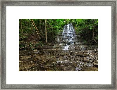 First Falls Grimes Glen Framed Print
