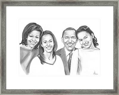 First-family 2013 Framed Print