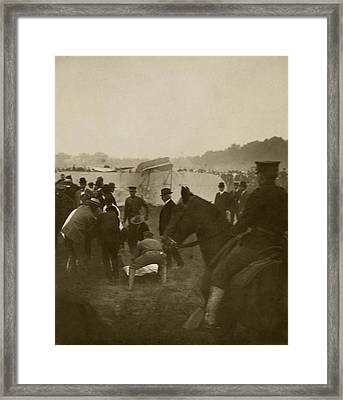 First Fatal Air Crash, 1908 Framed Print by Science Photo Library