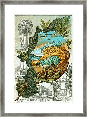 First Fatal Ballooning Accident Framed Print