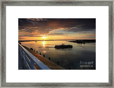 First Ferry To Chappaquidick Framed Print by Butch Lombardi