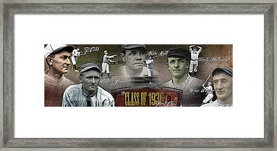 First Five Baseball Hall Of Famers Framed Print by Retro Images Archive