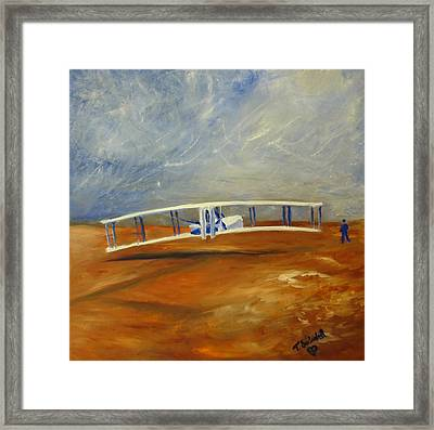 First Flight Aka Kittyhawk Dream Framed Print