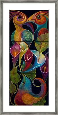 First Flight Triptych - Unframed Framed Print by Claudia Goodell