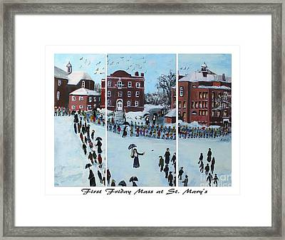 First Friday Mass At Saint  Mary's Framed Print