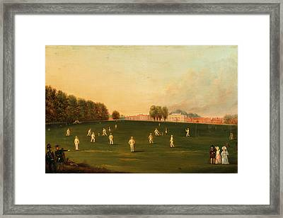 First Grand Match Of Cricket Played By Members Of The Royal Framed Print by Litz Collection