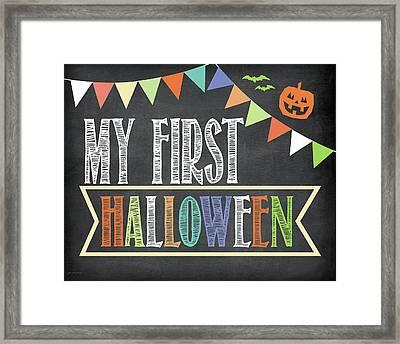 First Halloween Photo Prop Framed Print