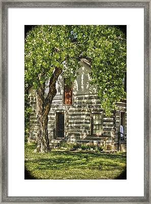 First House In Wichita Framed Print