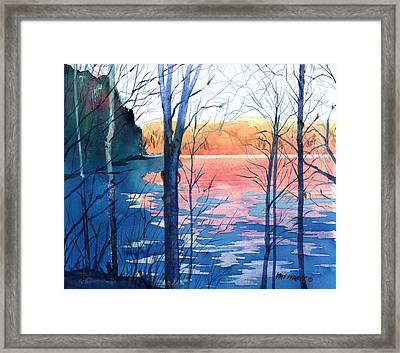 First Ice Framed Print