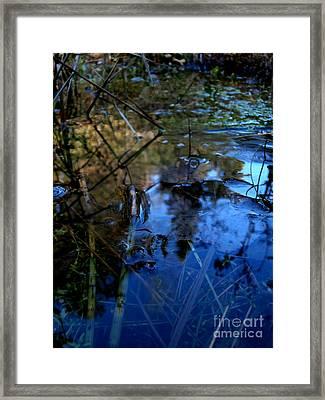 First Ice Framed Print by Steven Valkenberg