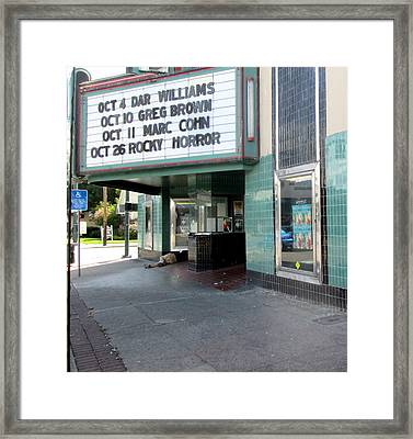First In Line Framed Print by Marie Neder