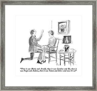 First It Was Maria And Arnold Framed Print