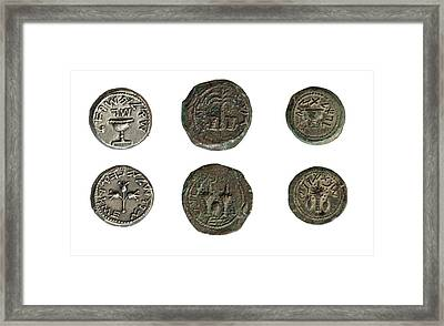 First Jewish Revolt Coins Framed Print by Photostock-israel