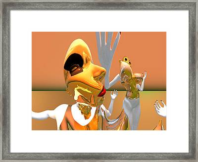 First Kiss 501 Framed Print by Stephen Donoho