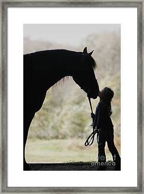 First Kiss Framed Print