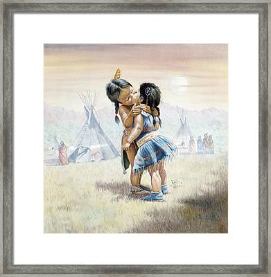 First Kiss Framed Print by Gregory Perillo