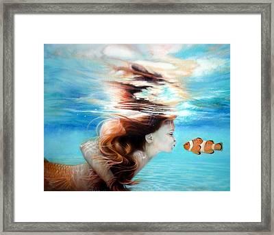 First Kiss Framed Print by Karen Kutoloski