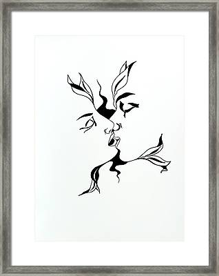 First Kiss Framed Print by Yelena Tylkina