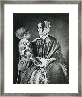 First Lady Jane Pierce With Son Benjamin Framed Print by Science Source
