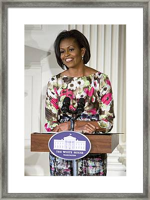 First Lady Michelle Obama Framed Print by JP Tripp