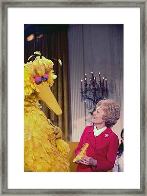 First Lady Pat Nixon Meeting With Big Framed Print by Everett