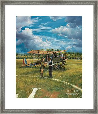 First Landing At Shepherd's Field Framed Print