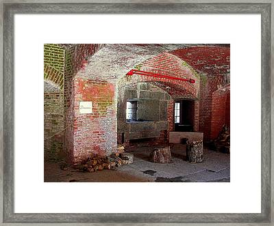 First Level Casemates Framed Print by Pamela Hyde Wilson