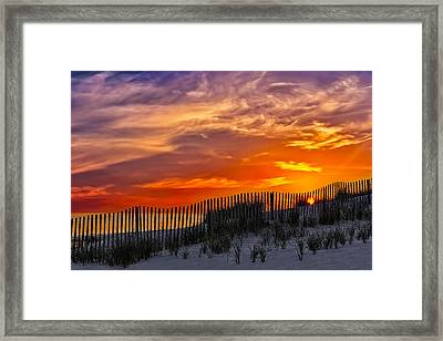 First Light At Cape Cod Beach  Framed Print by Susan Candelario