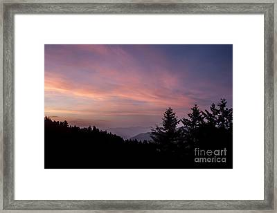 First Light At Newfound Gap Framed Print by Ricky Smith