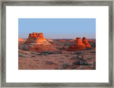 First Light At Teepees Framed Print