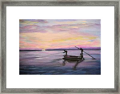 Framed Print featuring the painting First Light by Debbie Baker