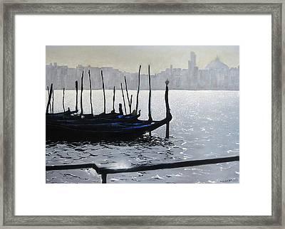 First Light Dorsoduro Framed Print by Martin Davis