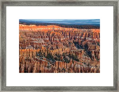 First Light In Bryce Framed Print by Pierre Leclerc Photography