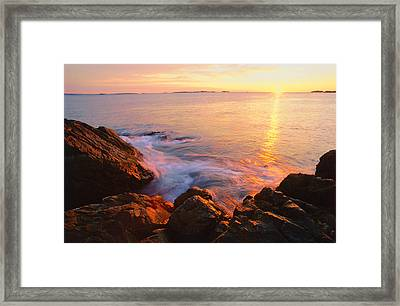 First Light Marblehead Framed Print by Michael Hubley