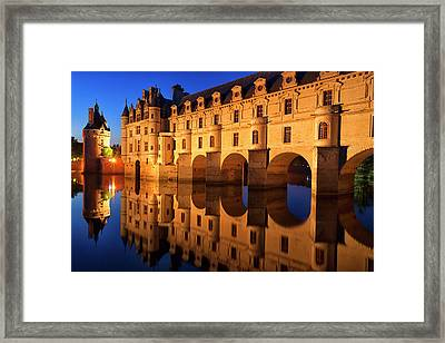 First Light Of Morning On Chateau Framed Print