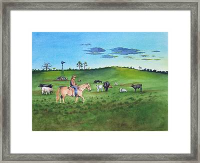 First Light On A Citrus Ranch Framed Print