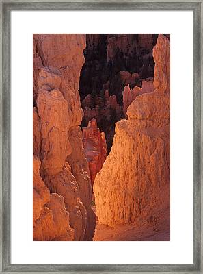 First Light On Hoodoos Framed Print